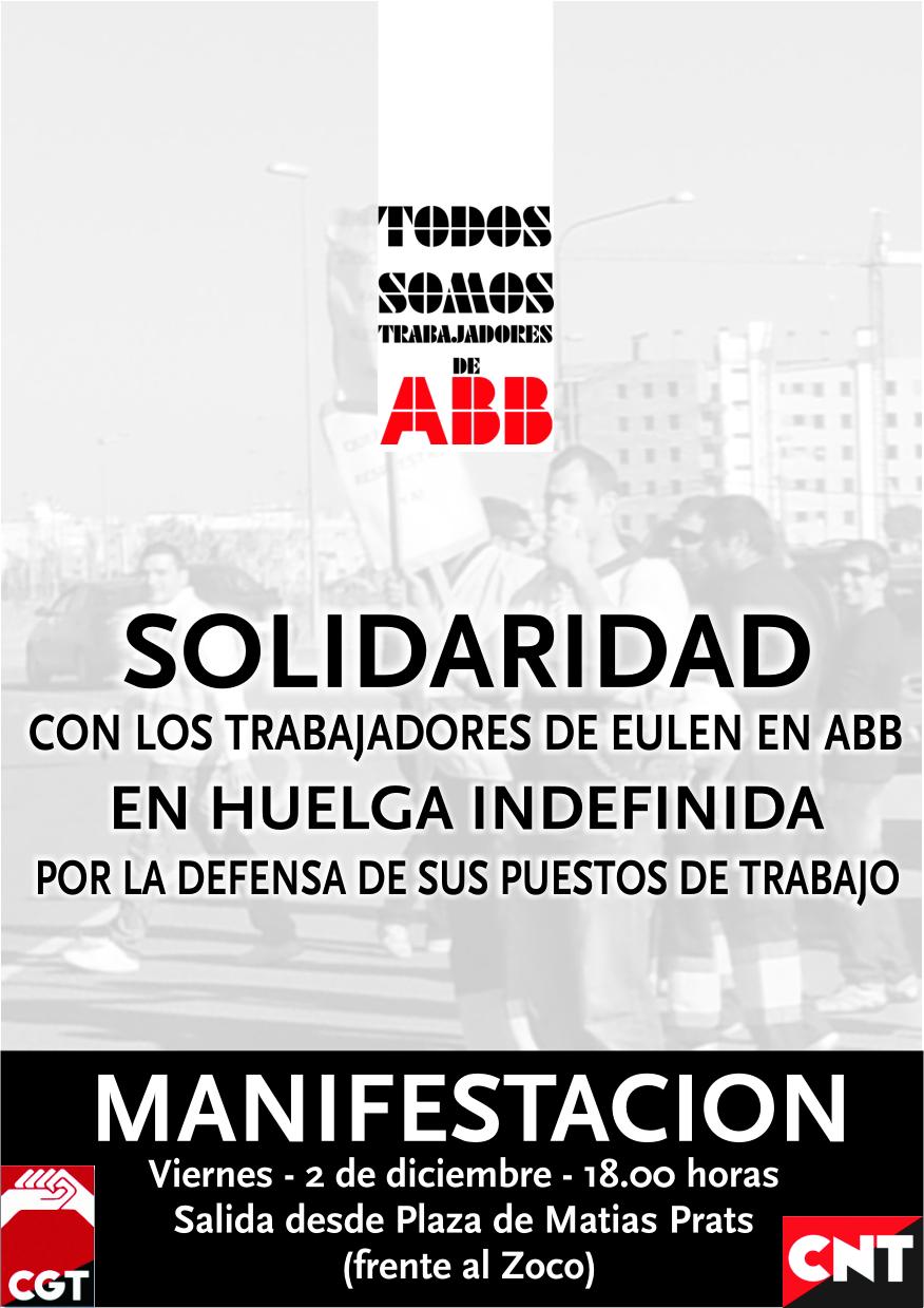 Acude a la manifestaci n en solidaridad con la huelga de for Oficinas eulen